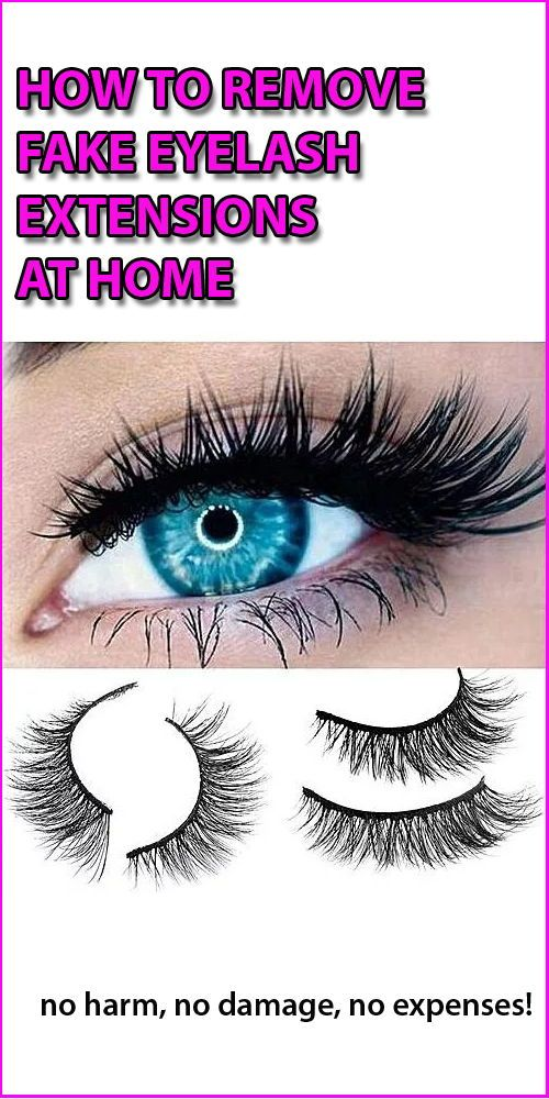 How to remove fake eyelashes extensions at home using ...