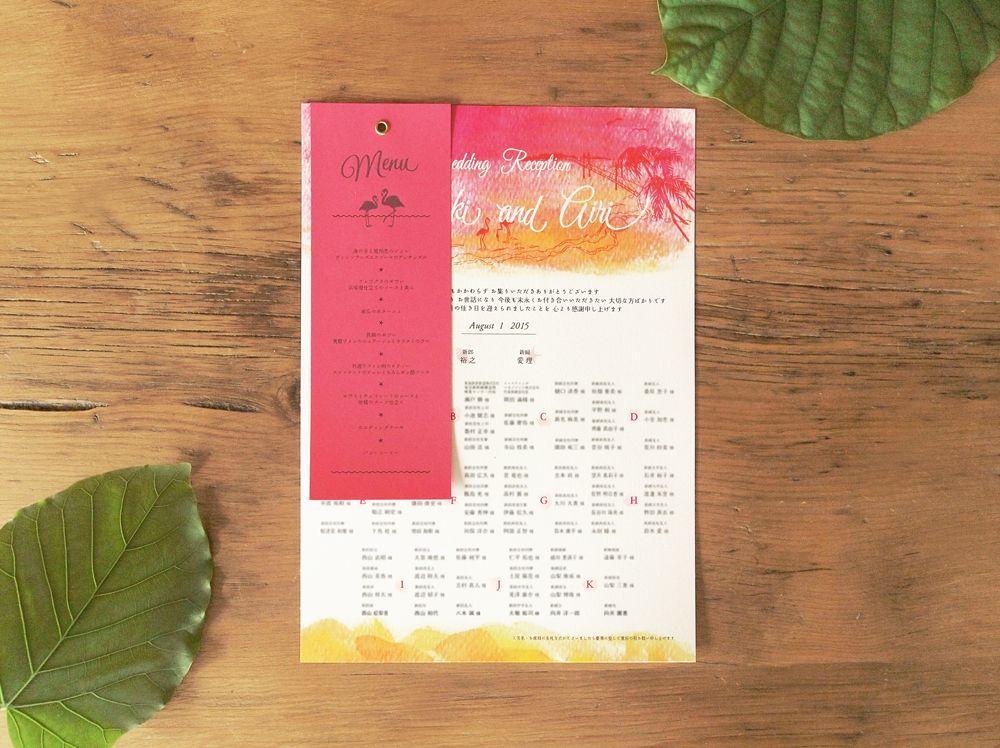 結婚式ペーパーアイテム -席次表&メニュー- wedding paper item -seat map & menu-