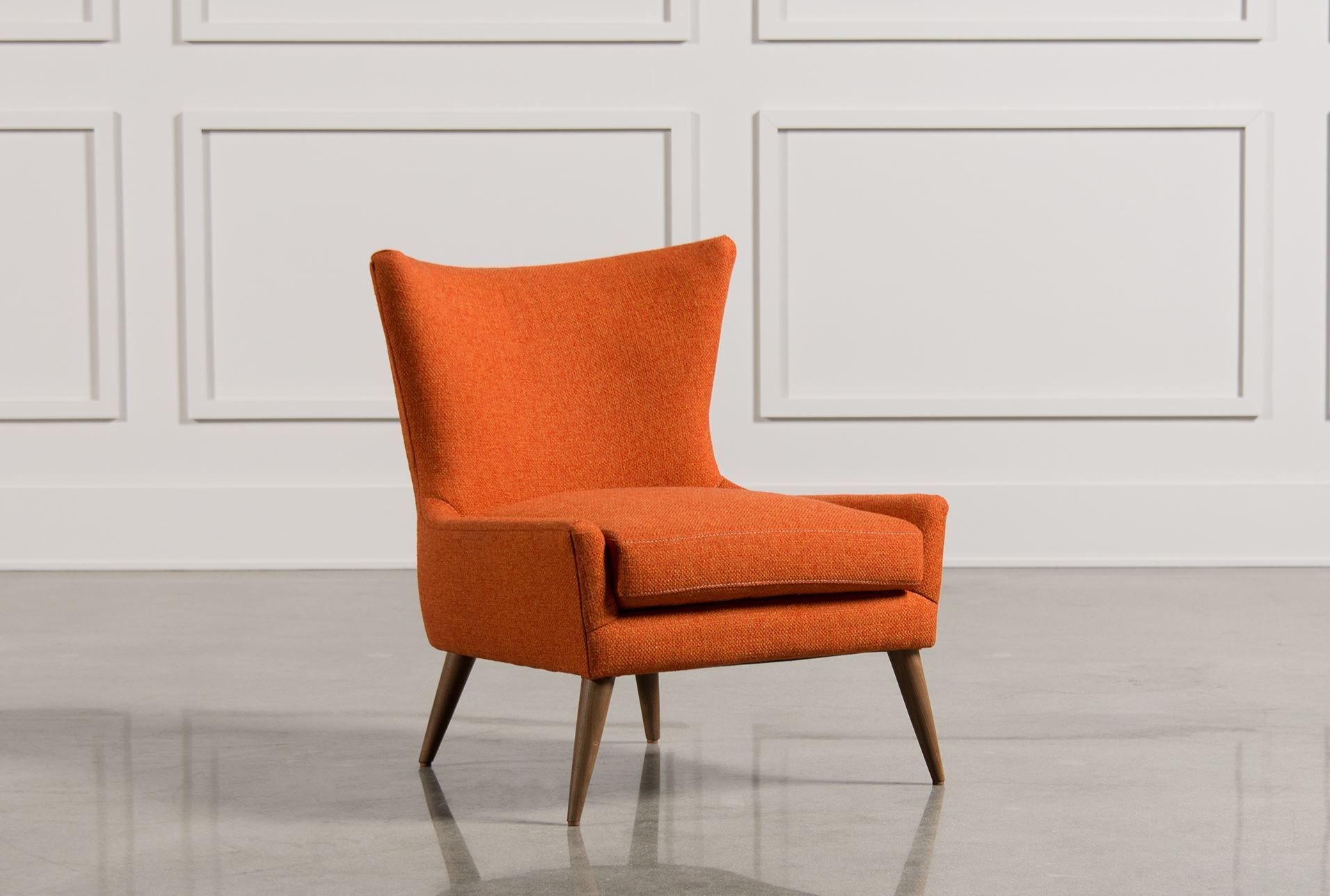 Orange Accent Chairs With Arms Dining Room Chairs Modern Accent