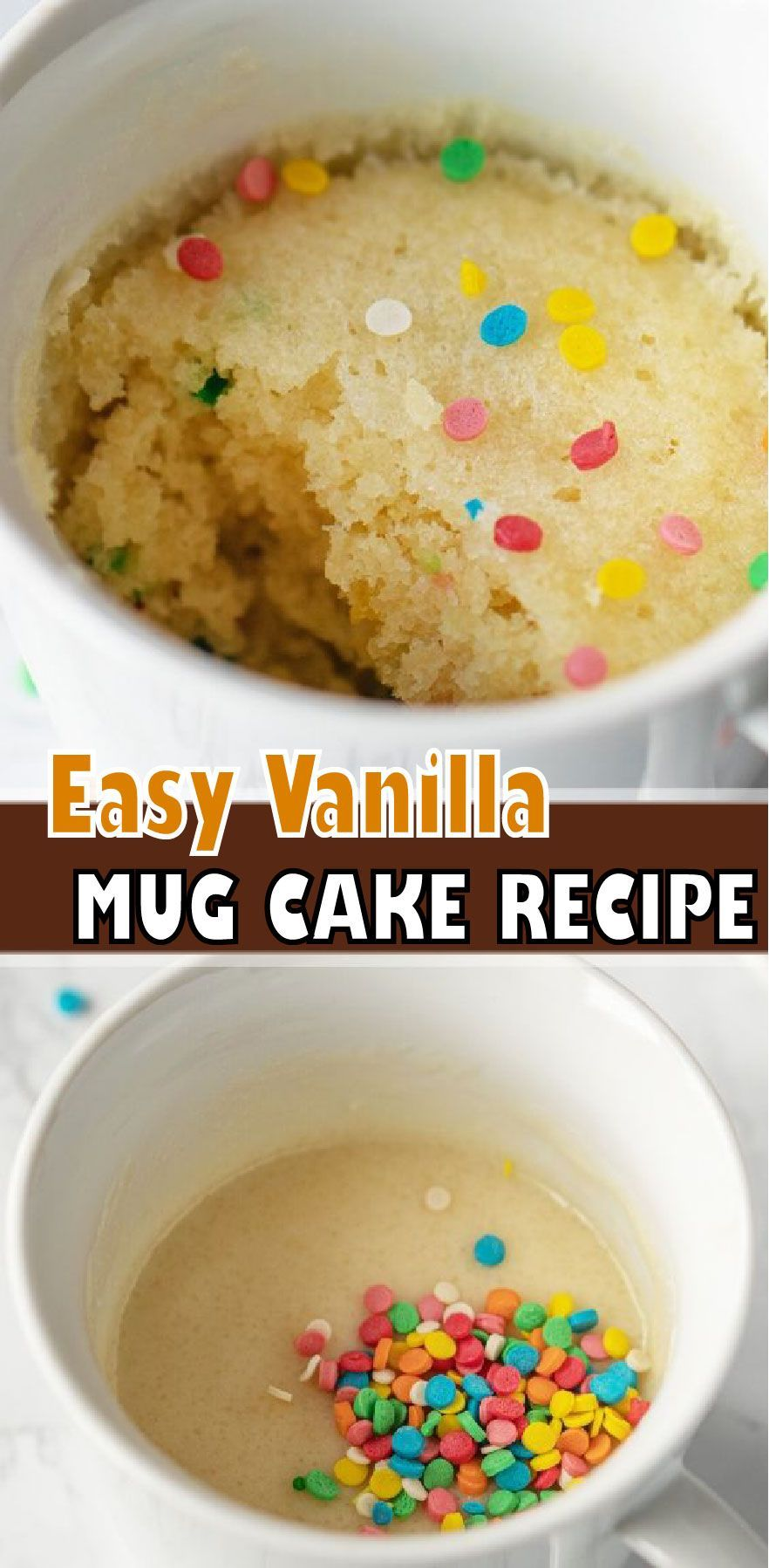 VANILLA MUG CAKE in 2020   Vanilla mug cakes, Mug recipes ...