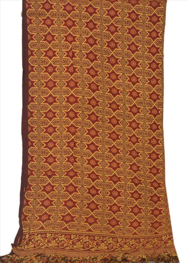 Sanskriti Vintage Dupatta Long Stole Cotton Maroon Scarves Woven Hijab #SanskritiVintage #Scarf