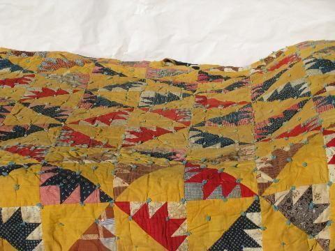 lot old antique vintage patchwork quilts \u0026 wool filled