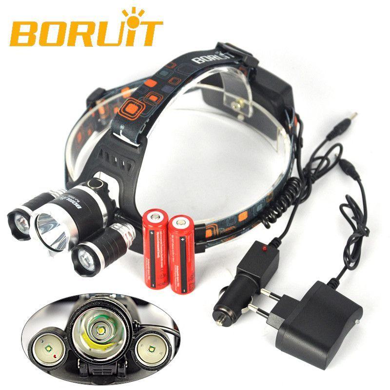 Boruit 5000 Lumen Led 4 Mode Headlight Lampe Frontale Camping