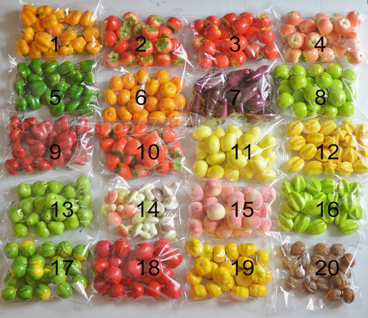 Amazing Miniature+decorative+vegetables | 20pcs Pack Mini Plastic Artificial  Vegetable