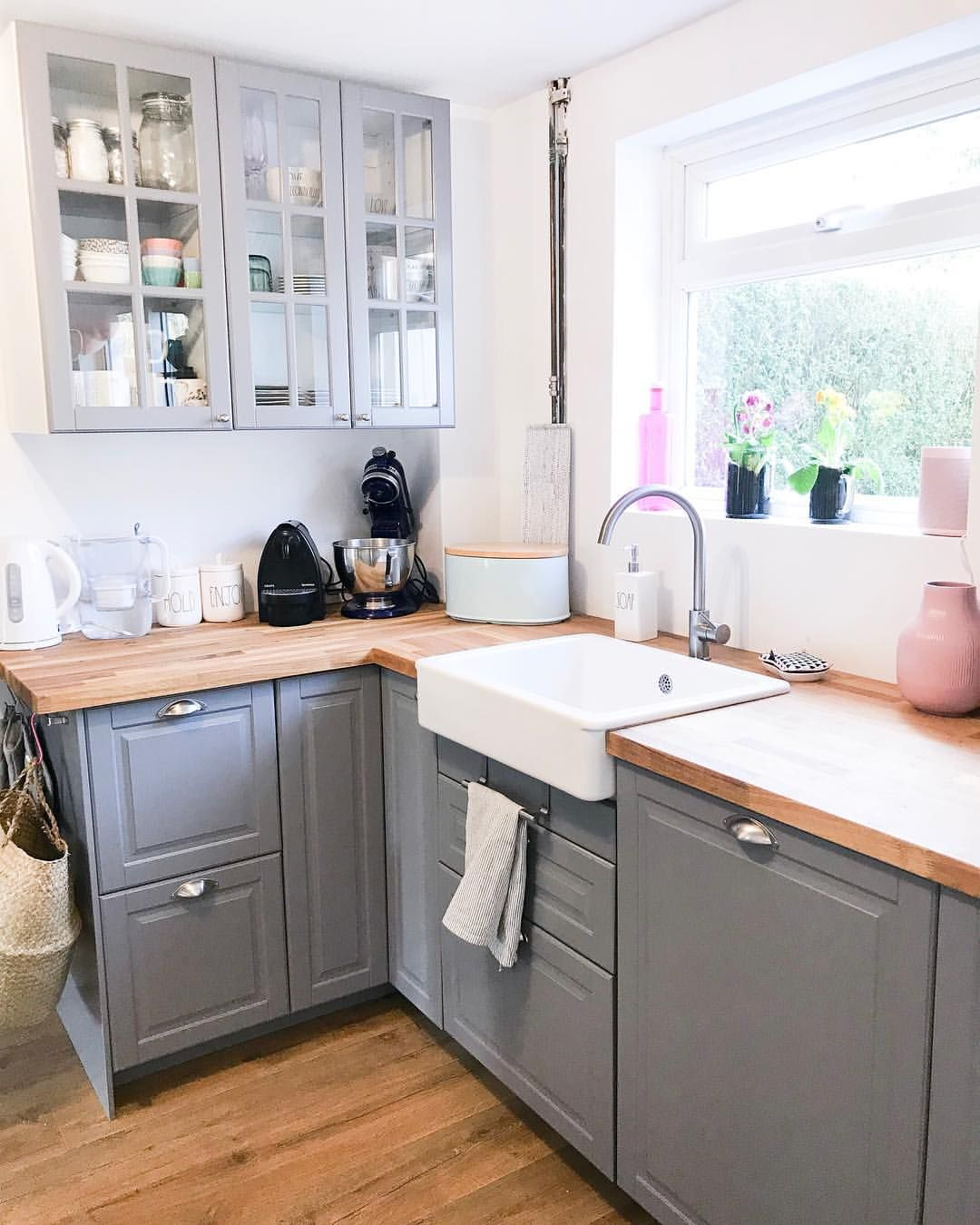 Grey Kitchen Dream Ikea Bodbyn A Modern Farmhouse Kitchen Ikea Bodbyn Kitchen Ikea Kitchen Grey Ikea Kitchen
