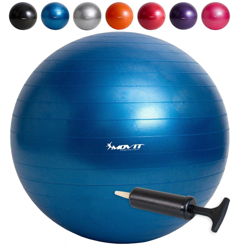 Gymnastikball Fitnessball Sitzball Yogaball Gymnastik mit Pumpe Bänder 65cm 75cm