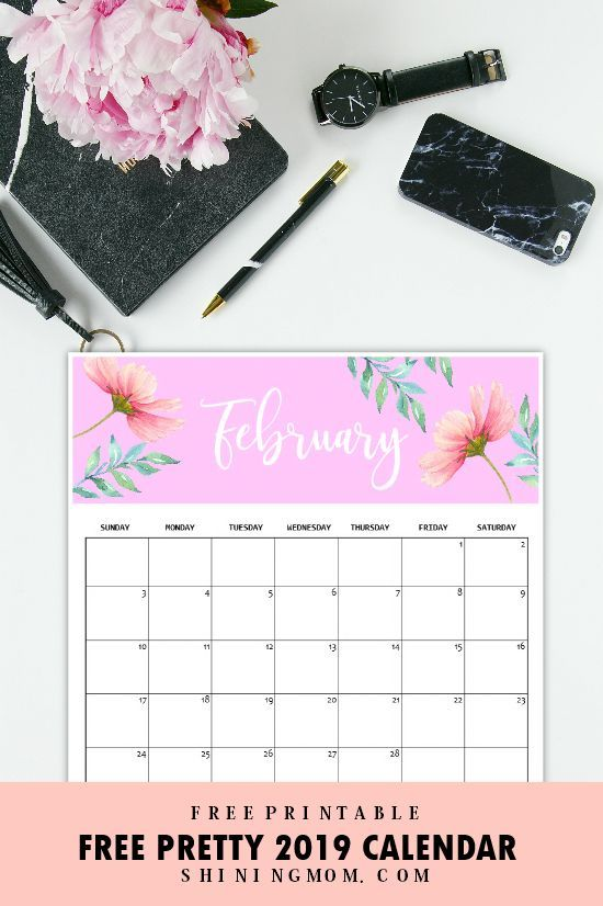 Calendar 2019 Printable FREE 12 Monthly Calendars To Love! in 2018