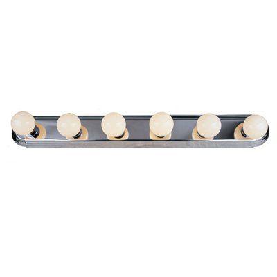 Portfolio 6 Light 4 In Chrome Oval Standard Vanity Bar