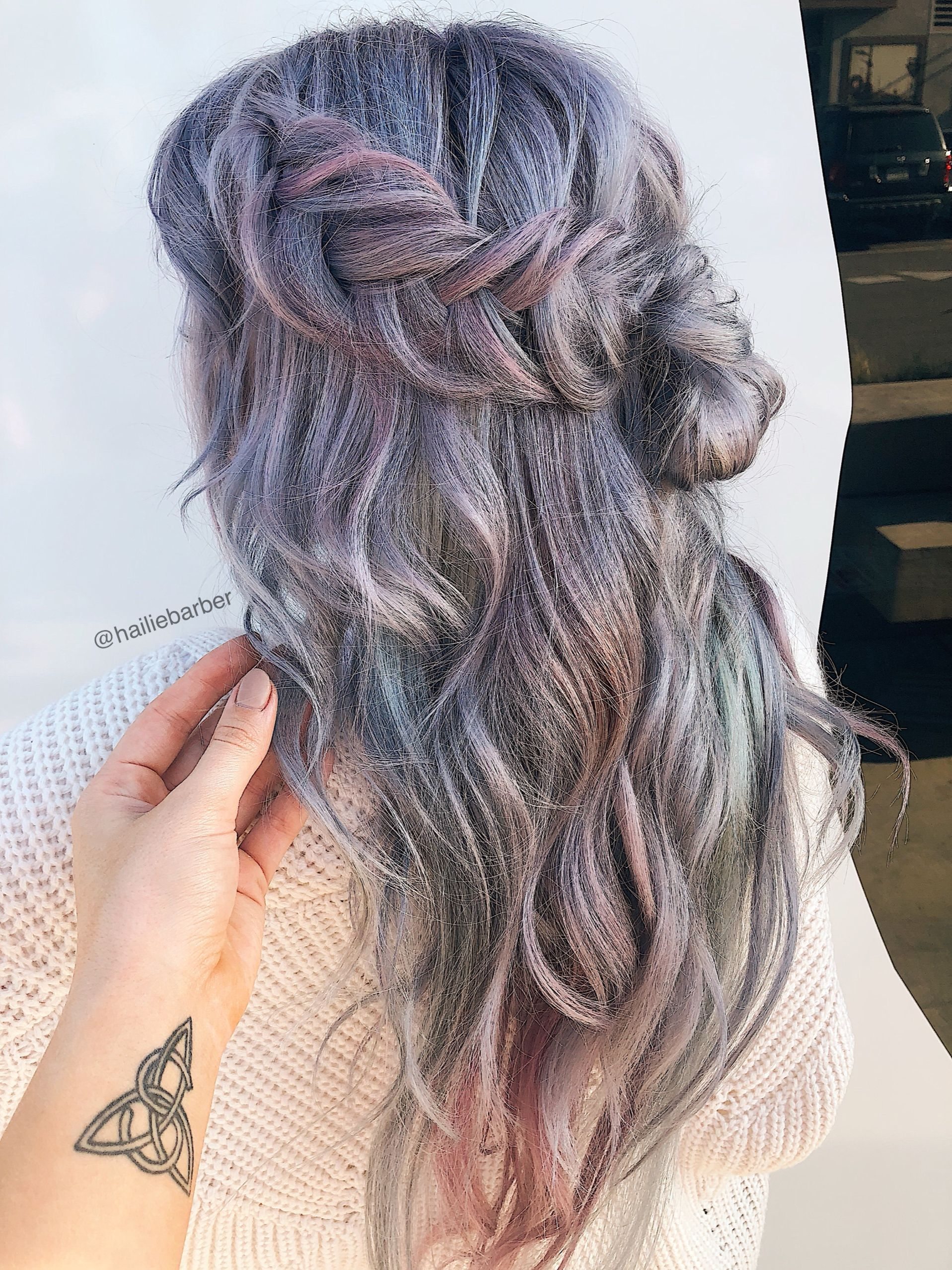 Hailie Barber In Kenra Professional Frost Shine Hair Color