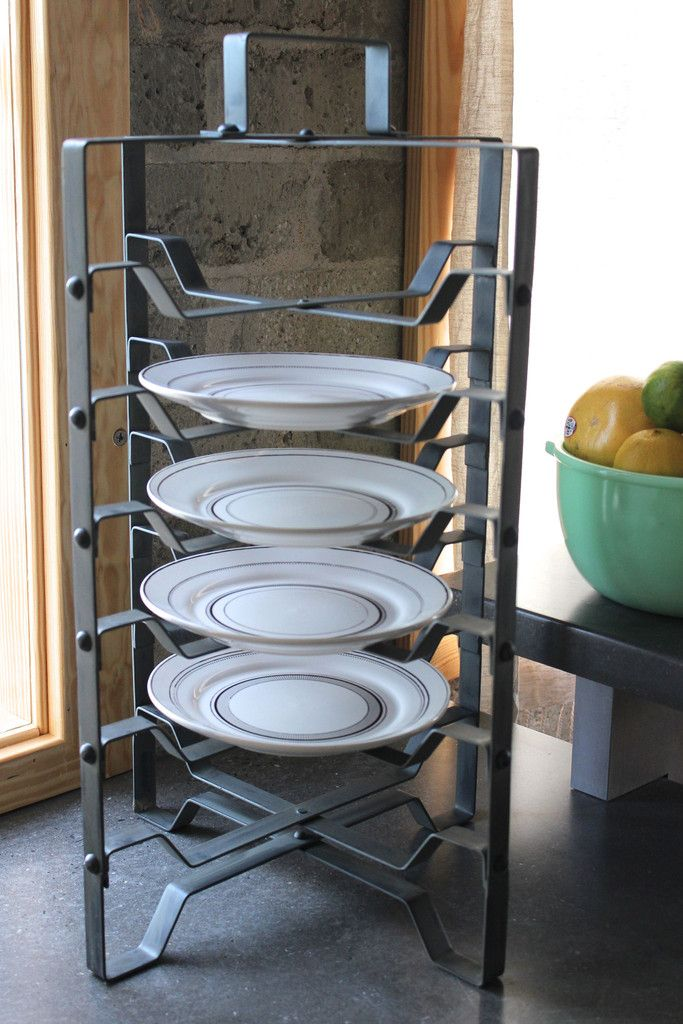 Industrial metal boho plate rack -- also can use for serving and displaying home baked & Industrial metal boho plate rack -- also can use for serving and ...