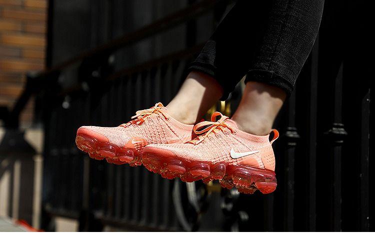 5eab9060af765 Cheap Sale Nike Air VaporMax 2018 Flyknit 2.0 OW Salmon Orange Pink Women