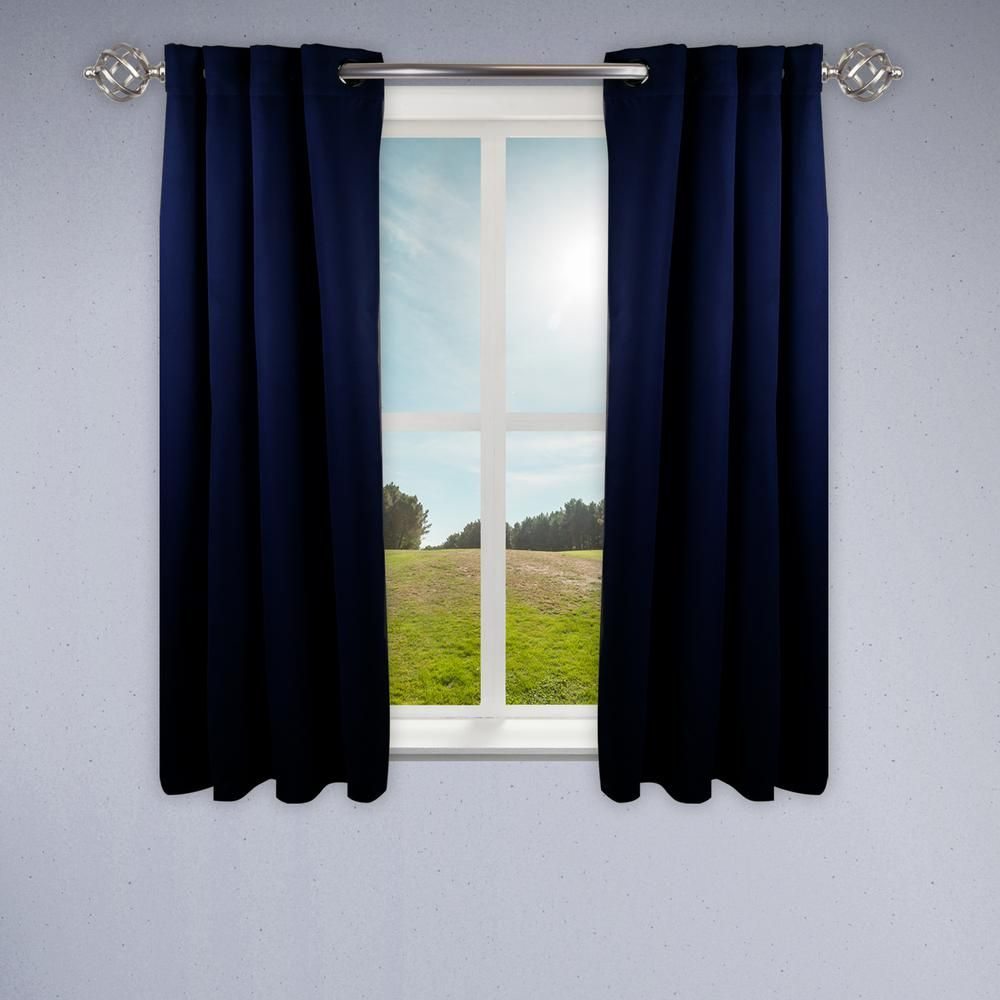 Rod Desyne Heavy Duty Drapery 52 In W X 63 In H Panel In Dark Blue T04 052063 Cool Curtains Dark Blue Rooms Turquoise Room