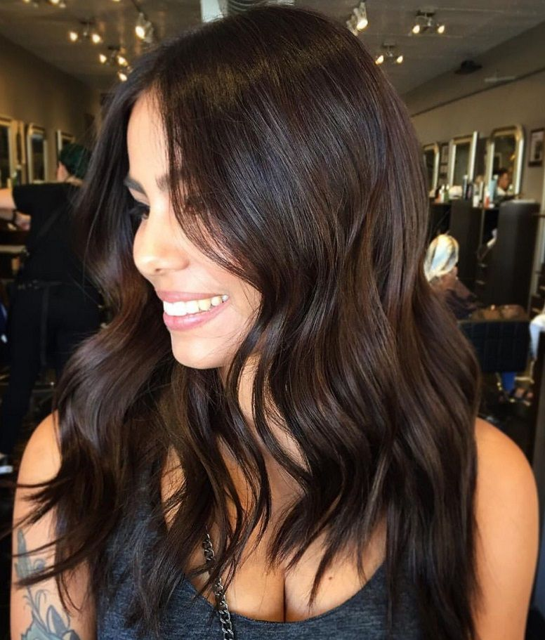 12 Most Stunning Dark Brown Hair Color Ideas In 2020 Brunette Hair Color Dark Brown Hair Color Hair Color Dark