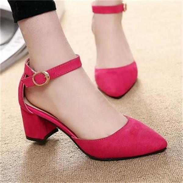 Classic close toe dress heels for the modern woman - Ankle strap for style  and support - Comfortable breathable upper - Made from PU - 6 cm heel  height ... 28e59d8935