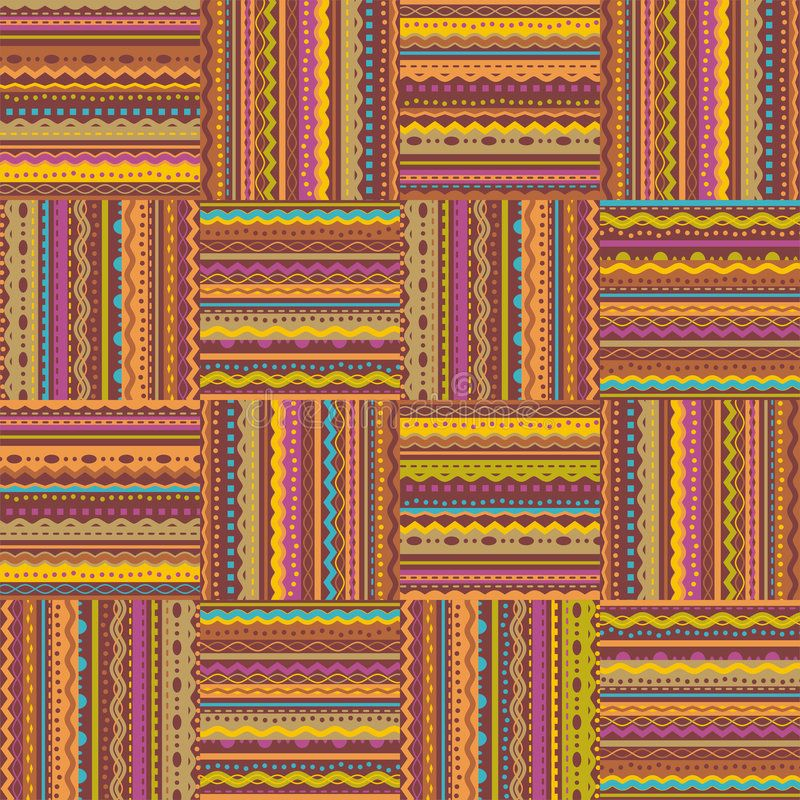 Retro style seamless repeat pattern. Checks with ribbon