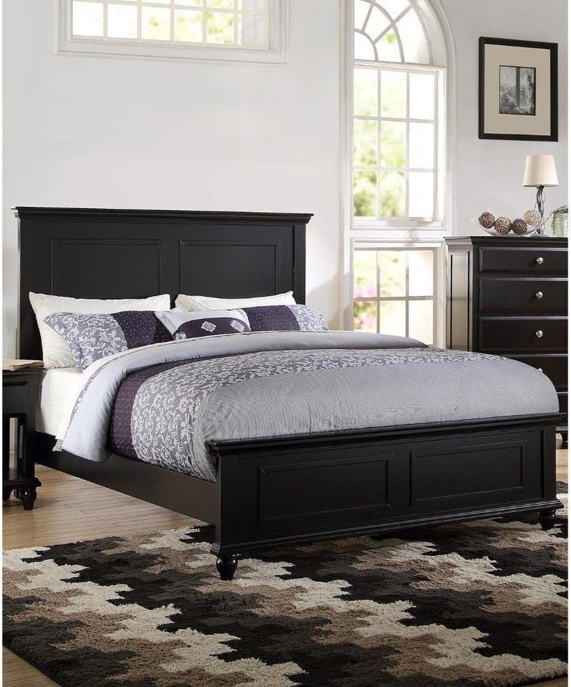 black wood bed frame black wood bed