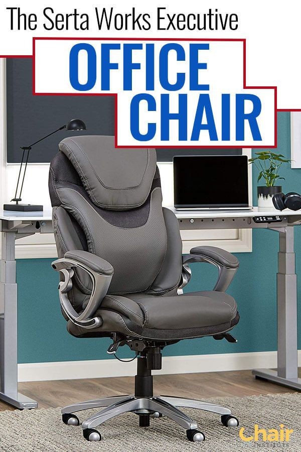 The Serta Works Executive Office Chair has a sleek design