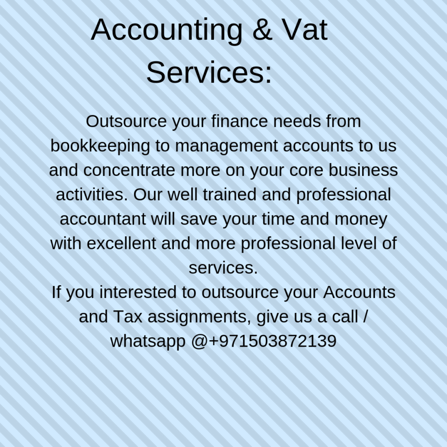 Accounting & Vat Services in Dubai (With images