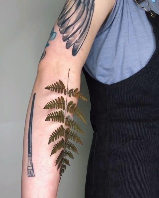 Creative Tattoo Done by @rit.kit.tattoo