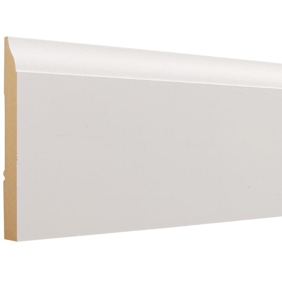 3 1 4 In X 12 Ft Painted Mdf Baseboard Moulding Lowes Com In 2020 Baseboard Moulding Baseboards Baseboard Trim