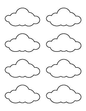 Small cloud pattern use the printable outline for crafts creating small cloud pattern use the printable outline for crafts creating stencils scrapbooking voltagebd Choice Image