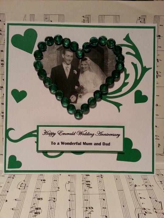 Emerald Wedding Anniversary Card 55 Years Wedding Anniversary Cards 55th Wedding Anniversary 50th Wedding Anniversary Invitations