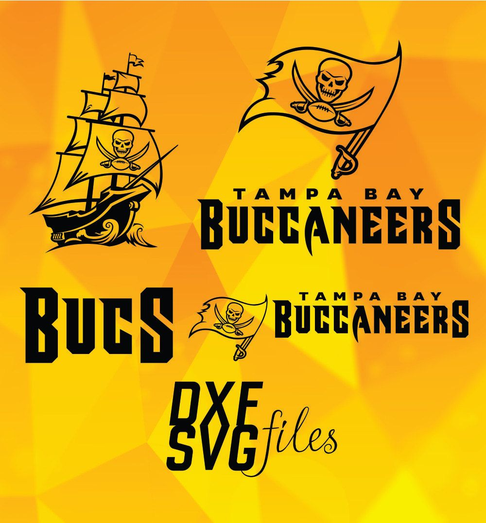 8 Tampa Bay Buccaneers Logos In Dxf And Svg Files Instant Download Tampa Bay Buccaneers Logo Tampa Bay Buccaneers