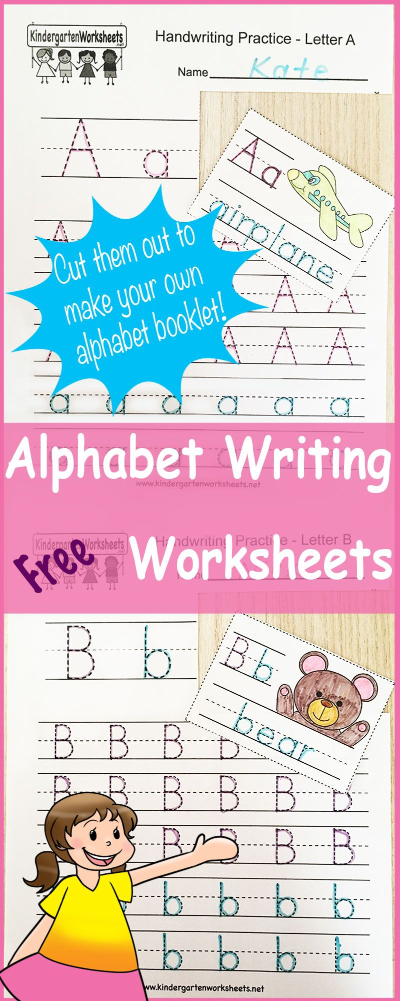 Handwriting Alphabet Worksheet This Series Of Handwriting Alphabet Worksheets Can Also Be Writing Worksheets Kindergarten Writing Alphabet Writing Worksheets [ 2000 x 800 Pixel ]