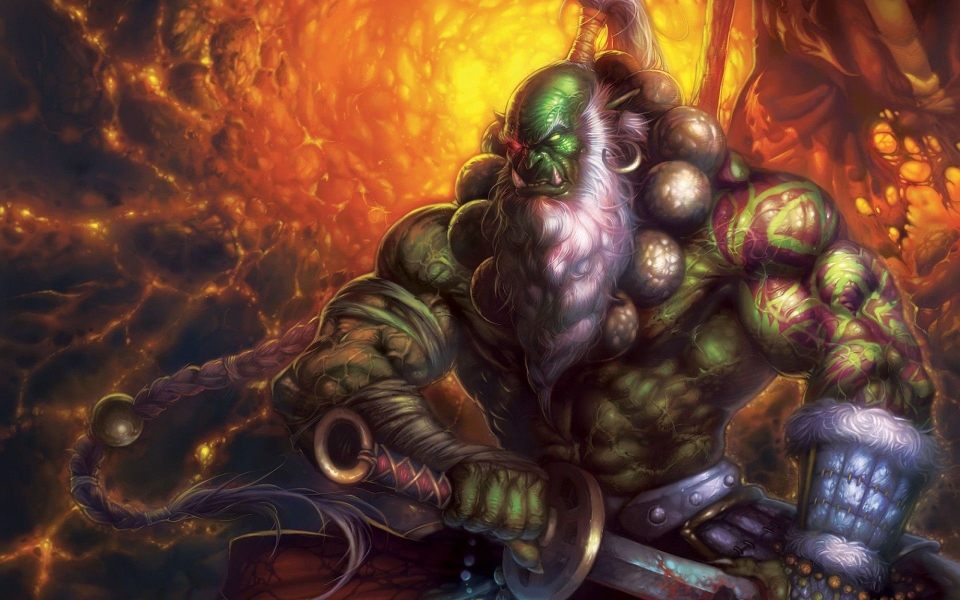 Wow Female Wallpaper World Of Warcraft Horde Orcs Hd Cool