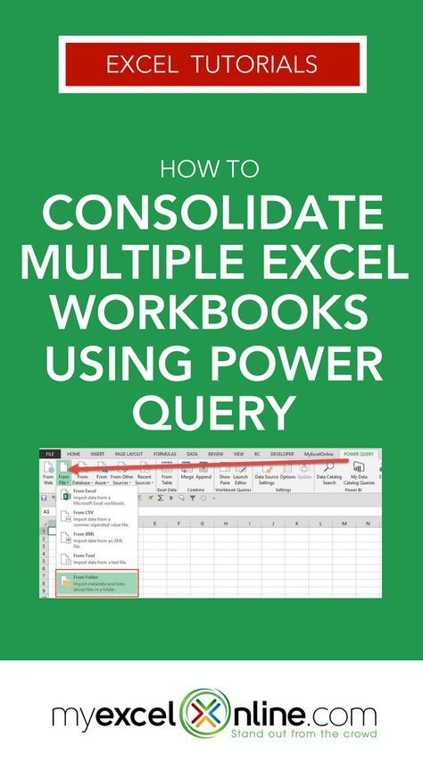 Consolidate Multiple Excel Workbooks Using Power Query | Free Microsoft Excel Tutorials