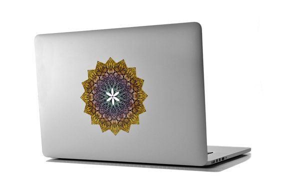 Mandala Love Sticker , Sacred Geometry, Chakra, Prana, Apple, Macbook, Decal, Flower of Life