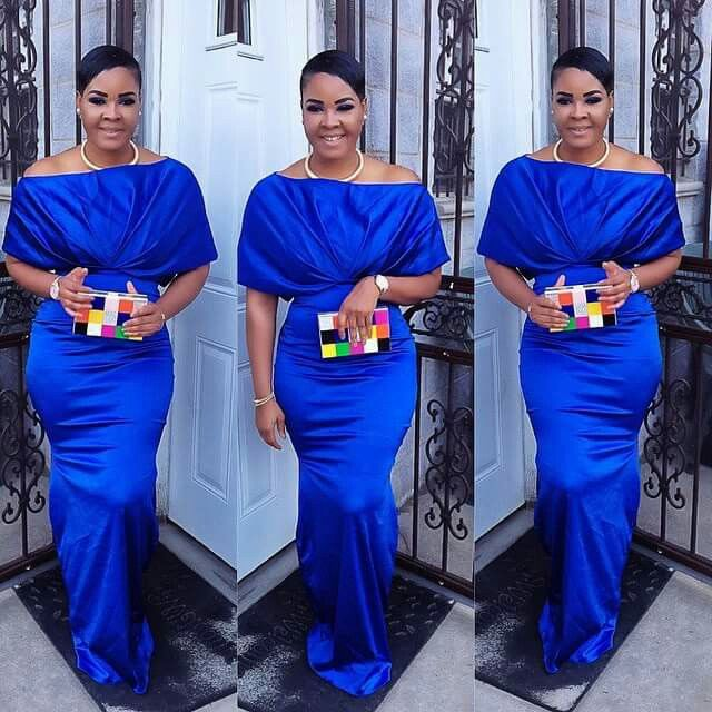 Royal blue reception dress African Print Fashion Pinterest