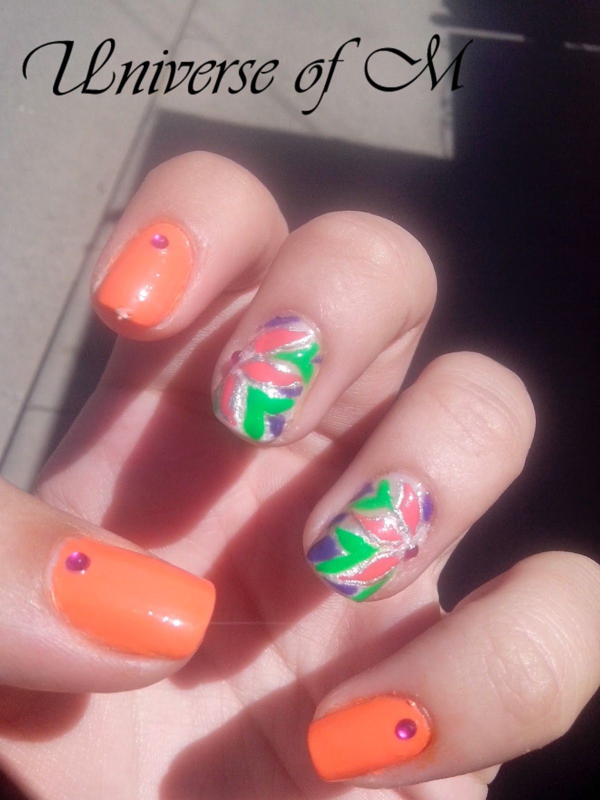 Nail Art Marathon- 3.Neon Nails ~ Universe Of M | My Nails ...