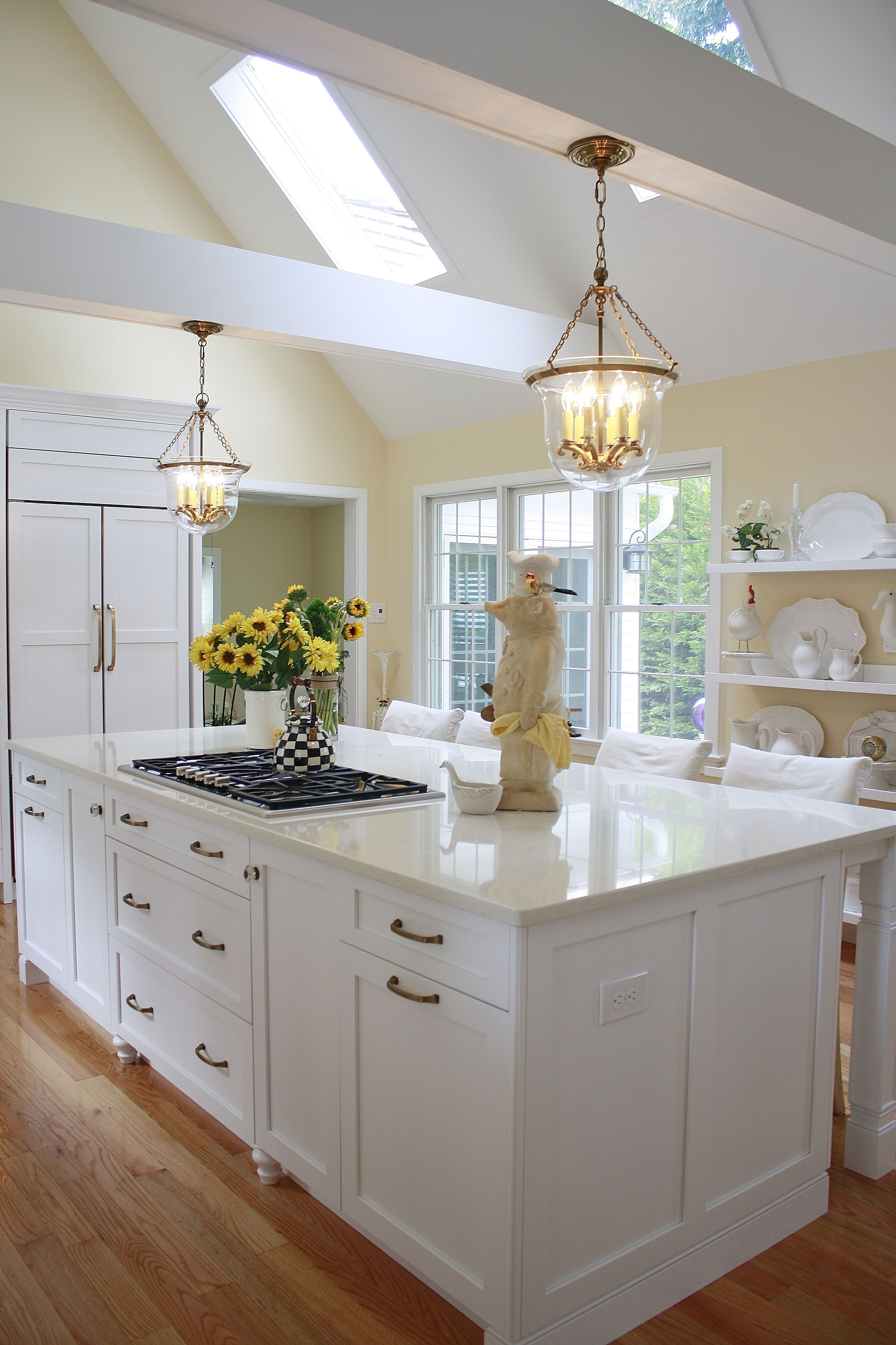 This Beautiful White Kitchen Features Compac Perlino (an Engineered Quartz  Stone) Countertops, Which