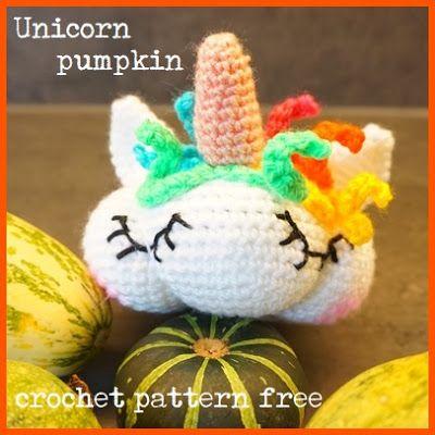 Frau Tschi-Tschi: Unicorn pumpkin - crochet pattern free   Create ...