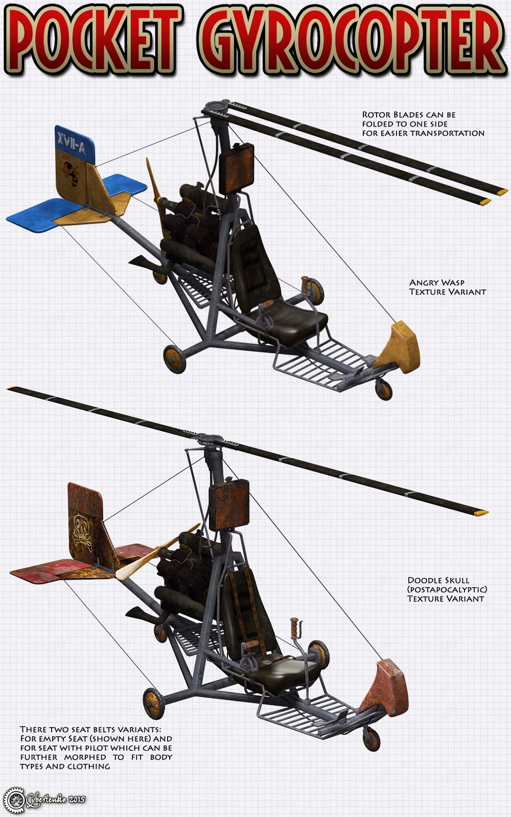 Gyrocopter, rotaplane or autogyro is an aircraft which uses
