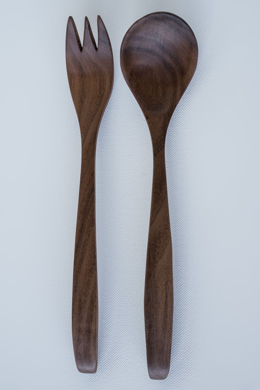 Walnut Wood Salad Server Set - WOODEN SPOONS, BABY SPOONS, SERVING ...