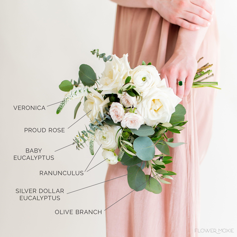A La Carte Organic Bridesmaid Bouquet By Flower Moxie Bulk Wedding Flowers Diy Bridesmaid Bouquet Wedding Flowers