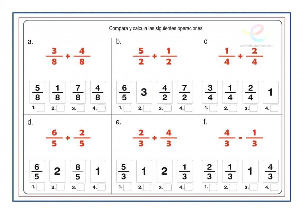 Cómo Calcular La Fracción De Un Número Fracciones Fracciones Resta De Fracciones Multiplicación De Fracciones