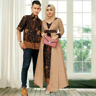 Model Baju Batik Couple Modis 2019