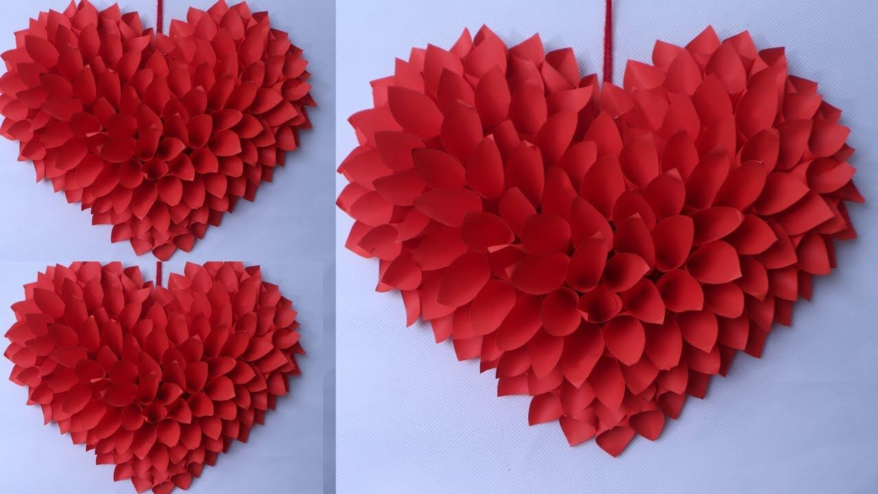 Wow Amazing Heart Wall Hanging Best Out Of Waste Idea 2019