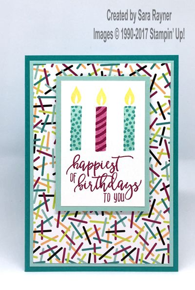 Picture Perfect Birthday Card Using Supplies From Stampin Up