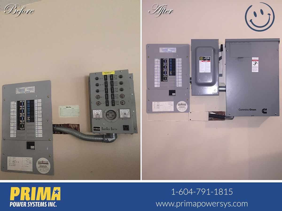 This Customer Is Very Pleased That Prima Was Able To Install A Cummins Rs20 And 100 Amp Automatic Transfer Switch That Transfer Switch Pay Phone Installation