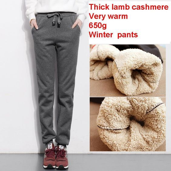 e8a65f543b0f0 autumn and winter women thick lambskin cashmere pants warm female casual  pants loose Harlan pants long trousers size S-4Xl
