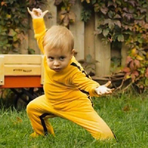 Toddler Kid Baby Bruce Lee Kung Fu Romper Grow Onesie Fancy Jumpsuit