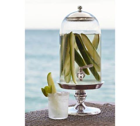 Bell Jar Drink Dispenser Pottery Barn Pickle Vodka
