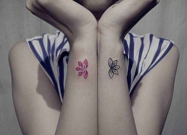 Matching Lotus Flower Tattoos On The Wrists Tattoo Artist
