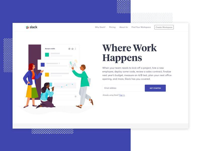 Slack Homepage Sketch App Homepage Design Free Design Resources