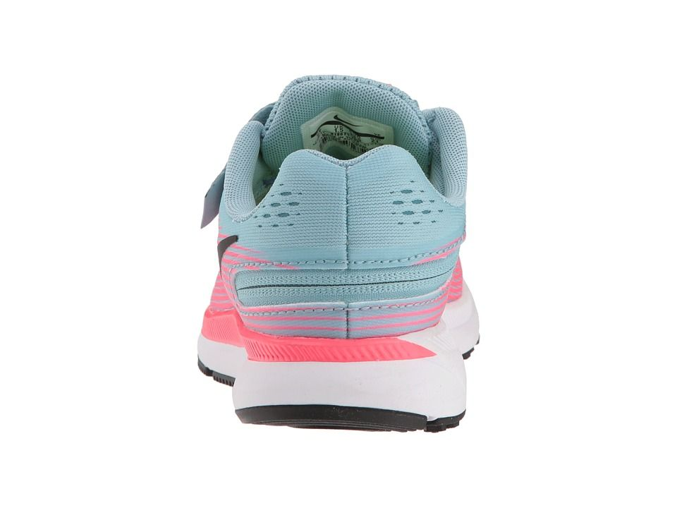 991dda6e9b92 Nike Kids Zoom Pegasus 34 Flyease (Little Kid Big Kid) Girls Shoes Mica Blue  Black Racer Pink Sport Fuchsia