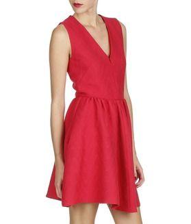 Robe Radiale Rouge Maje.   Robe de travail, Mode, Idées vestimentaires